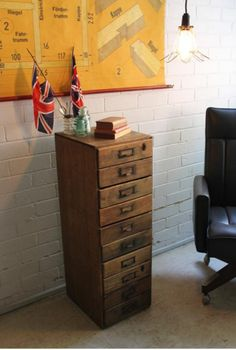 Vintage Industrial Catalogue Index Filing Drawers_Side Table Display from Fat Shack Vintage