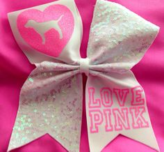 LOVE PINK cheer bow by SarahsCheerBows on Etsy, $12.00