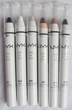 -: NYX Jumbo Eye Pencils Review  http://ninasbargainbeauty.blogspot.ie/2012/11/nyx-jumbo-eye-pencil-review.html