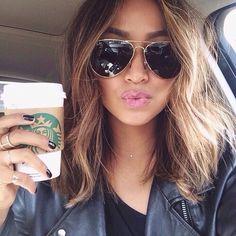 Starbucks, eyewear, glasses, hair, blond,