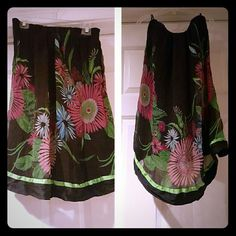 Strapless Bold floral print mini dress Bebe strapless dress built in bra thats very fun and flirty ! bebe Dresses Mini
