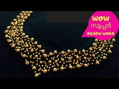 This video shows how to do beads work on neckline. Kids Blouse Designs, Hand Work Blouse Design, Fancy Blouse Designs, Blouse Neck Designs, Embroidery On Kurtis, Kurti Embroidery Design, Beaded Embroidery, Hand Embroidery Patterns Flowers, Hand Embroidery Designs