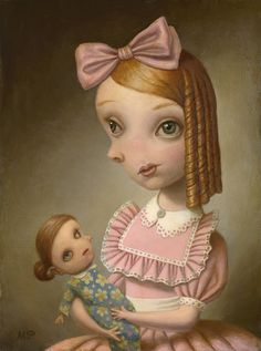 "Marion Peck moves into a new chapter of her practice as she unveils ""StraVolti"" at Dorothy Circus Gallery Rome on April The show, collecting new works that explore psychological the… Creepy Paintings, Creepy Art, Weird Art, Owl Paintings, Mark Ryden, Modern Surrealism, Surrealism Painting, Marion Peck, Arte Lowbrow"