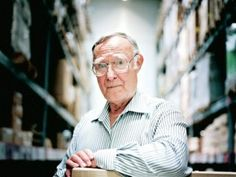 Ingvar Kamprad - IKEA's founder. One of the most interesting facts about IKEA is that Ingvar seems to be more than modest! The fact is that he owns a modest home, decent car and always books inexpensive hotels. Let's talk about facts about IKEA!  #IKEA #LONDON #IKEAFACTS #factsaboutikea #ikeacrowd #ikeahometour http://www.flatpackmates.co.uk/blog/27-facts-about-ikea/