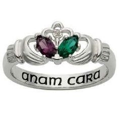 """""""Anam cara"""" (Gaelic for soul mate) love this ring but think it would be prettiest with white pearl or my birth stone as the heart."""