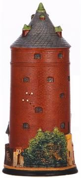 Character stein, .5L, pottery, marked 1541, Round Tower, rare, mint