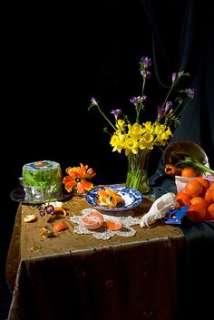 Stephanie Dean, Still Life of Citrus and Daffodils, 2009
