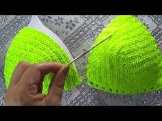 Poncho Crochet, Crochet Bra, Crochet Bikini Pattern, Mode Crochet, Crochet Shirt, Crochet Tote, Crochet Clothes, Crochet Stitches, Swimsuit Pattern