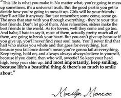 a Marilyn Monroe Quote. So Wise. Great Quotes, Quotes To Live By, Inspirational Quotes, Awesome Quotes, Motivational, Fantastic Quotes, Inspiring Sayings, Interesting Quotes, Happy Quotes