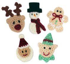 freechristmas chrochet | Crochet Spot » Blog Archive » Crochet Pattern: Christmas Appliques ...