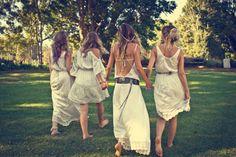 Vestidos de novia hippie al estilo boho-chic