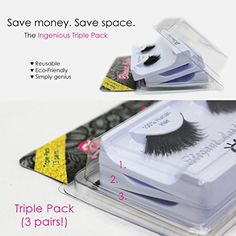 Elegant Lashes 133 Black Triple Pack  3 Pairs  100 Human Hair False Under Eyelashes for LowerBottom Lashes * Be sure to check out this awesome product.