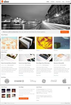 fresh responsive business / portfolio premium WordPress theme from Theme Trust