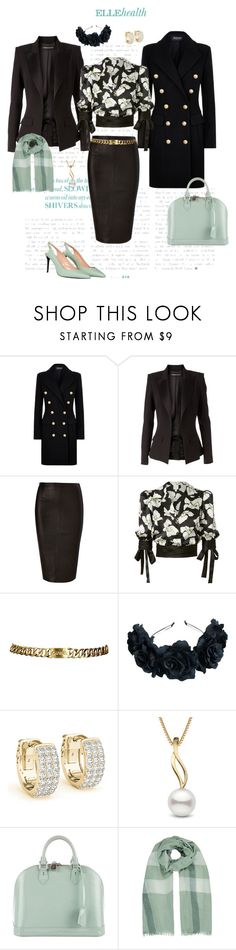 """Image Kollection Outfits"" by imagekollection ❤ liked on Polyvore featuring Balmain, Alexandre Vauthier, Cinq à Sept, Chanel, Huggies, Louis Vuitton, Burberry and Roland Mouret"