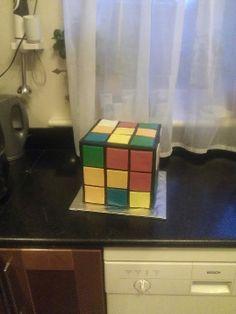 10 pound LXXX Rubik's Cube Cake