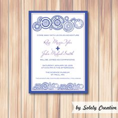 Doctor Who Digital TARDIS Wedding Invitation by MarronMarvelousArt