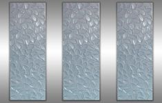 Metallic white pearl texture leaf original painting by ZarasShop