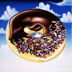KENNY SCHARF DONUT PAINTING Art Experience:NYC http://www.artexperiencenyc.com/social_login