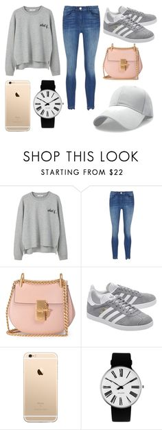 """""""Untitled #11"""" by dorienvdm ❤ liked on Polyvore featuring MANGO, Chloé, adidas Originals and Rosendahl"""