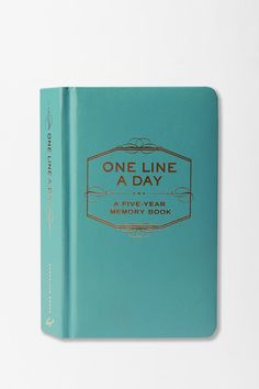 One Line a Day Diary...I lovvvve this idea and I want one!