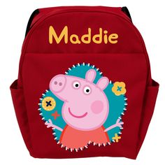 6f51bc22424 Peppa Pig Flower Fun Red Youth Personalized Backpack - All Backpacks -  School Supplies   Tv s. Personalized Toddler BackpackKids ...
