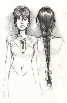 It's a sketch of Nynaeve. I believe this is concept art for the Wheel of Time comic book series.