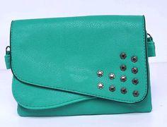 CA$24.95 - Studded Bag Aqua Blue/Green
