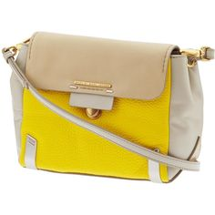 Marc by Marc Jacobs Sheltered Island Colorblocked Crossbody ($398) found on Polyvore