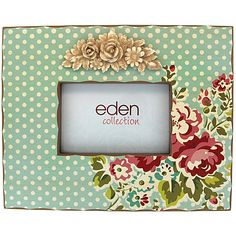 Eden Wooden Frame 4x6 Blue