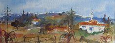Algarve, Art For Sale, Watercolour, Portugal, Landscapes, Ink, Painting, Pen And Wash, Paisajes