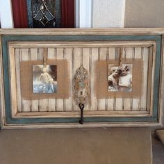 Frame with burlap and chalk paint