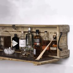 BOMB BAR Rough ammunition crate exterior, walnut and leather interior http://www.oliverapt.com/allproducts/bomb-bar