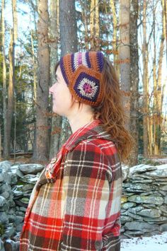 rusty plum earwarmer by hodgepodgefarm on Etsy
