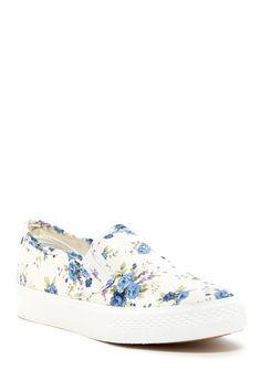 17f13ff8c198de Blue Floral Slip-On Sneaker Cinderella Shoes