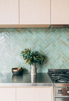 G A B B E - Richmond Residence - www.gabbe.com.au  TILESOFEZRA | Moroccan Herringbone zellige tile AVAILABLE from www.tilesofezra.com