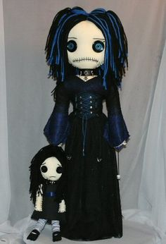 Goth Girl Rag Doll by Tattered Rags Creepy Rag Dolls, via Flickr