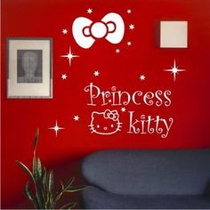 Princess Design WHITE Color Free Style Wall Sticker 42x70cm Home DIY