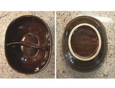 Vintage 1950's Brown Oven Proof Marcrest Stoneware by JandBCompany, $20.00