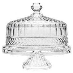 Symphony Crystal Cake Stand  sc 1 st  Pinterest & Godinger Dublin Crystal Cake Plate with Dome (Dublin Footed Cake ...