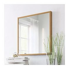 IKEA - STAVE, Mirror, white stained oak effect, , Safety film reduces damage if glass is broken. Decor, Home Decor Furniture, Ikea, Furniture, Furnishings, Ikea Mirror, Stave Mirror, Ikea Stave Mirror, Affordable Furniture