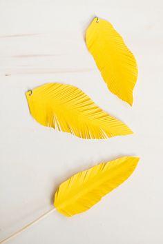 Matildigt | Påsk-DIY: Fjädrar av papper