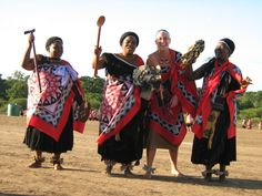 """""""This is a photo of me and several of my community members as we participate in a local celebration in the Lubombo region of Swaziland. The festival commemorates the harvest of the marula fruit in February 2011 and women from all over come together to dance for the King. Through the cultural exchange, I learned the proper style of Swazi dress and dance steps and I'm not sure who had more fun - me or the women of my community!"""" 