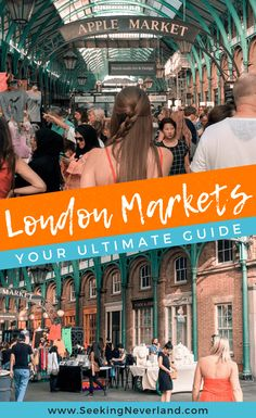 This guide covers all the best markets (street, food, and yes, Diagon Alley) around London's best boroughs. Get your grub on at Borough or relive the Harry Potter tale at Leadenhall. Thrift shop at Stables or step into Wonderland at Camden market. This gu London Market, Best Markets In London, Leadenhall Market London, London Shopping, London Restaurants, Diagon Alley, Things To Do In London, Nyc, London Travel