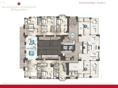 AQUALINA MANSIONS PENTHOUSE FLOOR PLAN [PALAZZO D'ORO FLOOR TWO]