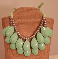 Mint Teardrop Statement Necklace from Southern Jewelry Auctions on Facebook