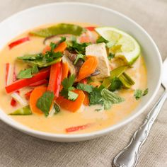 Thai Vegetable and Tofu Soup #vegan #curry #tofu