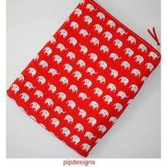 Kindle 6 Wi-Fi Touch Pouch Case Sleeve Cover Red White Elephant Elephants £10.00