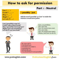 Asking for permission – English for Professionals English Tips, English Class, English Grammar, Teaching English, Grammar Book, Grammar Lessons, Improve English Speaking, Learn English, English Center