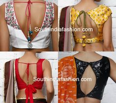 50 Simple Stylish and Trendy Blouse Back Neck Designs
