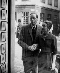 "dearfawndoe: "" Audrey Hepburn and husband taking a walk in Stockholm, Sweden (1959). """